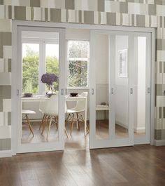Chic Glass Partition Design Ideas For Your Living Room Barn Doors Sliding, Internal Sliding Doors, Room Divider Doors, Glass Partition Designs, Home, French Doors Interior, House, Internal Glass Doors, Doors Interior