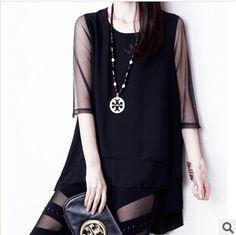 #aliexpress, #fashion, #outfit, #apparel, #shoes Free, #Shipping, #New, #2014, #Women, #Summer, #Fashion, #Casual, #Chiffon, #Organza, #Patchwork, #O-Neck, #Half-Sleev, #Slim, #Dovetail, #Shirt, #WJ401 http://s.click.aliexpress.com/e/uR3RNJMVf