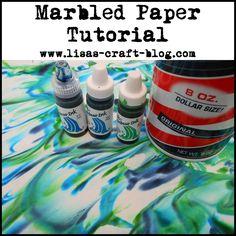 Lisas Craft Blog: Tutorial: Marbled Paper