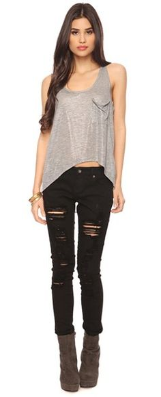 Favorite: Loose and flowy on top tight at the bottom