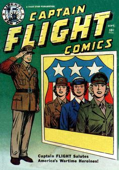 Comic Book Cover For Captain Flight Comics #4