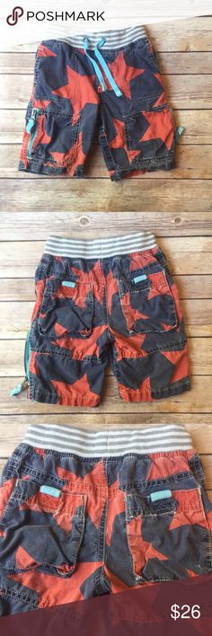Mini Boden Techno Shorts *read description* Size 2 hard to find Mini Boden Techno Shorts in good/play condition for significant fade. No stains or holes but they are quite faded.  Still look adorable and have lots of wear left. Mini Boden Bottoms Shorts