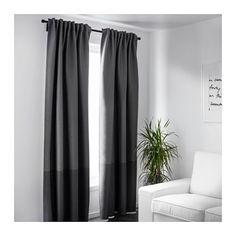 "MARJUN Block-out curtains, 1 pair  - IKEA $59.99 98""L"