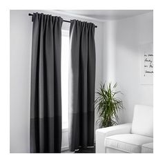 MARJUN Block-out curtains, 1 pair  - IKEA. <--- Actually really looks great with white walls.