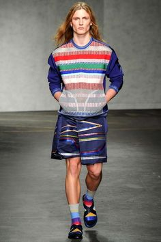 A colourful take on socks and sandals. We still say no.