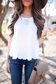 this cute scalloped tee is only $25