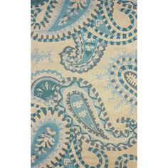 nuLOOM Hand-hooked Paisley Wool Beige Rug (5' x 8')