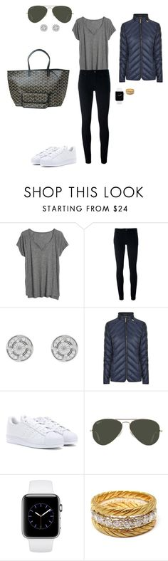"""Sem título #2108"" by analuli on Polyvore featuring moda, Madewell, Levi's, MICHAEL Michael Kors, adidas, Ray-Ban, Filippa K e Buccellati"