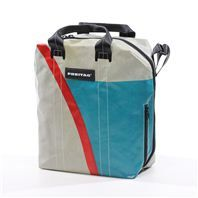 I <3 Freitag products. They are indestructable, unique, and one of a kind. Bags are Swiss-made from recycled truck tarps and seat-belt straps. Absolutely brilliant.