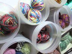 Yarn Storage Tour. Yarn Storage, Crochet Accessories, Organizing, Organization, Make It Yourself, Knitting, Storage Ideas, Youtube, Blog