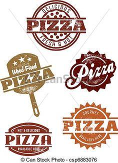 Vector - gastrónomo, pizza, Grpahics - stock de ilustracion, ilustracion libre de, stock de iconos de clip art, logo, arte lineal, retrato de EPS, Retratos, gráficos, dibujos gráficos, dibujos, imágenes vectoriales, trabajo artístico, Arte Vectorial en EPS