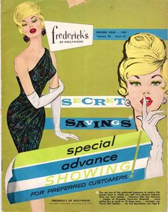 Frederick's of Hollywood catalog, 1961