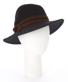 Look at this Jeanne Simmons Accessories Black Outback Wool Hat on #zulily today!