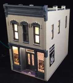 HO Scale Coffee Shop 'Hallowed Grounds' Building DPM Lighted  Free Shipping | eBay