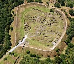 Aerial view of the Celtic stronghold of  Castro-Viladonga, Galicia.