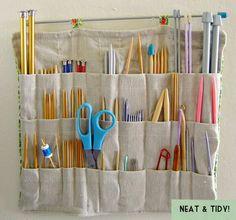 Porta treco de agulhas de tricô