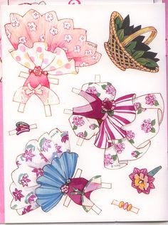 """This will be a combined post tonight. It is a large one and covers both categories of Greeting Cards and Paper dolls. """"Paper Doll Fun with Peppermint Rose"""" This the front of the card. Paper Doll Craft, Doll Crafts, Paper Toys, Paper Crafts, Paper Dolls Clothing, Paper Dolls Printable, Dress Up Dolls, Vintage Paper Dolls, Doll Toys"""