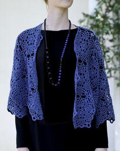 crochet motif bolero shawl