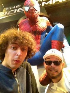 Looks like stampy is a big spiderman fan! Stampy and Finball in L.A.