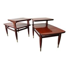Mid Century Modern Two Tier End Tables a Pair | Chairish Mid Century Modern Decor, End Tables, Nightstand, Mid-century Modern, Interior, Furniture, Design, Home Decor, Products