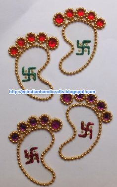EC Indian Handicrafts' (Customised kundan rangolis): Divinity in Kundan Diwali Decorations, Festival Decorations, Diy Arts And Crafts, Hobbies And Crafts, Diwali Craft, Diwali Diy, Diy For Kids, Crafts For Kids, Ganapati Decoration
