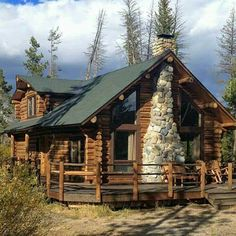 Redfish Lake Lodge, Stanley, ID Why it's cozy: Classic log cabins with stone . Log Cabin Living, Log Cabin Homes, Log Cabins, Rustic Cabins, Log Cabin Resort, Plans Architecture, Getaway Cabins, Little Cabin, Cabins And Cottages