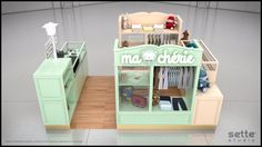 studio sette, sette studio, quiosque para shopping, quiosque, design quiosque, stand design, stand shopping, ma chérie, chérie, quiosque roupas infantis, quiosque infantil