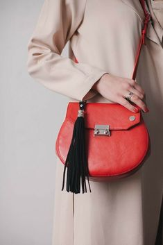 511518d924c Flap bag for women made of genuine leather. Inside general department two  open pockets for