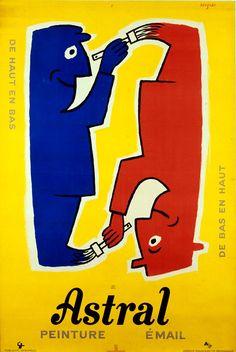 30 Glorieuses en France. Raymond Savignac  : adepte d'une communication claire, qui mise sur une idée. Utilisation de l'humour.