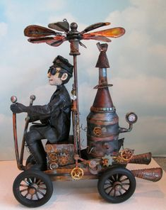 Steampunk Wenzel Online Class My dear friend Susan Barmore aka Frowning Francis Folk Art