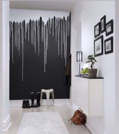 Welcome to a new collection of interior designs featuring 16 Elegant Scandinavian Hallway Designs That Can Improve Your Home Enjoy! - diy-home-decor Home Interior, Interior Design, Interior Colors, Interior Ideas, Diy Wall Painting, Painting Designs On Walls, Bedroom Decor, Wall Decor, Bedroom Ideas