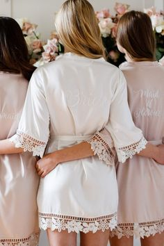 Garter Girl Loves: Pretty Robes For The Bride lace bride robe - Where to find bridal robes, a collec Lace Bridal Robe, Bridal Party Robes, Lace Bride, Bride Garter, Wedding Lingerie, Bridal Gifts, Bridesmaid Robes, Bridesmaid Gifts Unique, Maid Of Honor