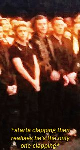 This could be right before they announce an award and Harry starts to clap until he hears Taylor's name....