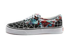 Vans Shoes Black/White Era Spider-Man Womens/Mens Canvas Sneakers