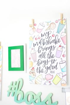 Coloring Song Lyric Posters - Damask Love