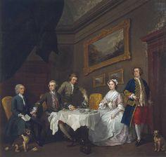 William Hogarth, The Strode Family, circa 1738
