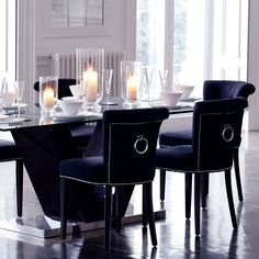 #Eichholtz Key Largo Chair - Black Cashmere.
