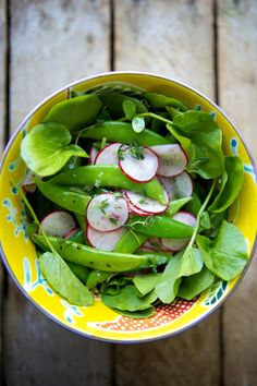 sugar snap peas with radish, cress & thyme (photo and recipe by @Nicole Novembrino Franzen)