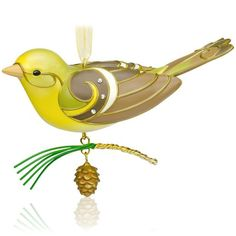 Lady Western Tanager Bird Ornament