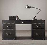 Mayfair Steamer Trunk 5-Drawer Desk - Restoration Hardware