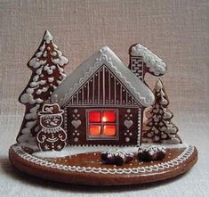 Gingerbread House Designs, Gingerbread Decorations, Christmas Gingerbread, Gingerbread Cookies, Christmas Decorations, All Things Christmas, Christmas Time, Christmas Crafts, Xmas