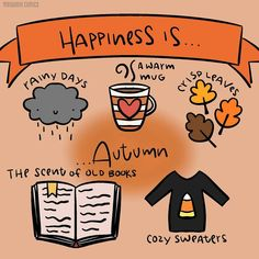 Happiness is autumn. Rainy days, a warm mug, crisp leaves, the scent of old books, cozy sweaters Autumn Cozy, Autumn Rain, Autumn Forest, Autumn Aesthetic, Summer Rain, Hate Summer, Happy Fall Y'all, Hello Autumn, Autumn Girl