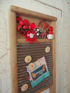 Need to make something like this for my laundry room..I have the washboard...