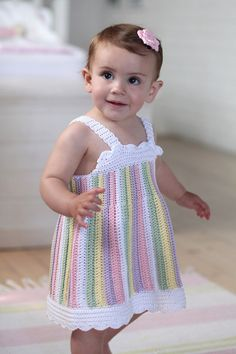 Brand: Elle Count: Double Knit Range: Premier Cotton Size From: 9 months Size To: 12 months Crochet Toddler, Crochet For Kids, Easy Crochet, Knit Crochet, Crochet Dress Girl, Baby Girl Crochet, Crochet Baby Clothes, Baby Dress Patterns, Baby Knitting Patterns