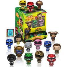 Mighty Morphin' Power Rangers Pint Size Heroes figures by Funko Pop Figures, Vinyl Figures, Action Figures, Mystery Minis, Funko Pop, Mini Figure Display, Barcelona, Green Ranger, Action Toys