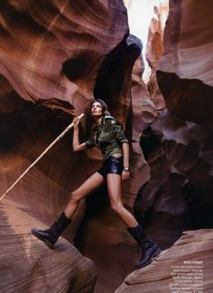 Patrick Demarchelier's images of Lake Powell, Utah for American Vogue