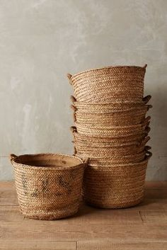 Anthropologie Harvest Basket #anthrofave contemporary country rustic design storage for chic interior decor
