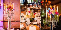 Butterfly themed centerpieces. (Flowers by Lee Forrest Design, photo by: Claire Pacelli Photography)