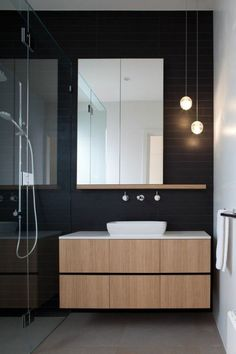 faience noire salle de bain, faience castorama, sol en beton ciré
