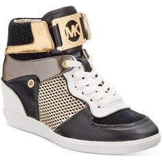 2f6b00f9c539 Michael Michael Kors Nikko High-Top Sneakers ( 195) ❤ liked on Polyvore  featuring shoes